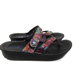 Wolky Sandal Wedge Multicolored Size 39
